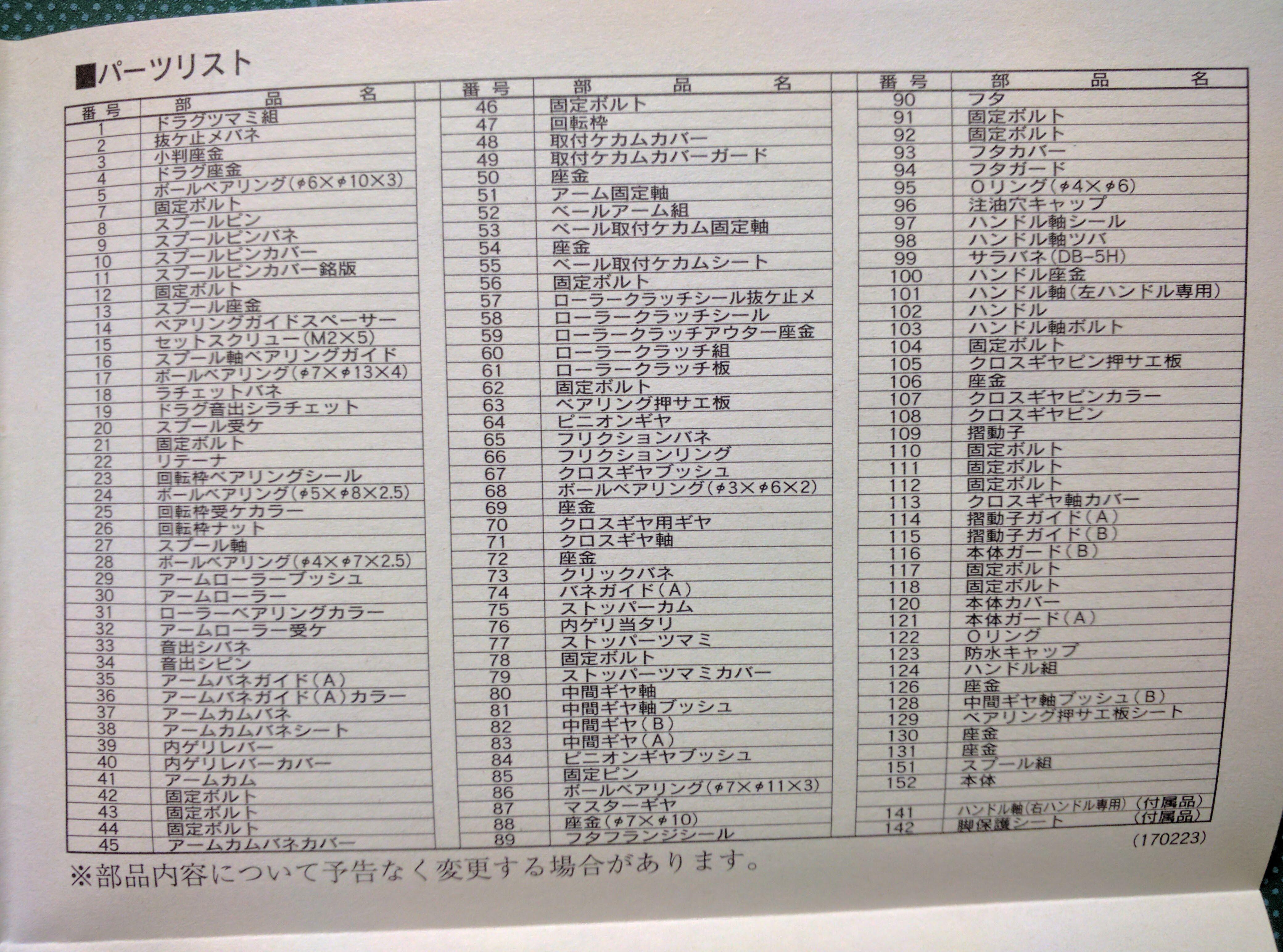 shimano-04stella-2500S-parts-list (107223)